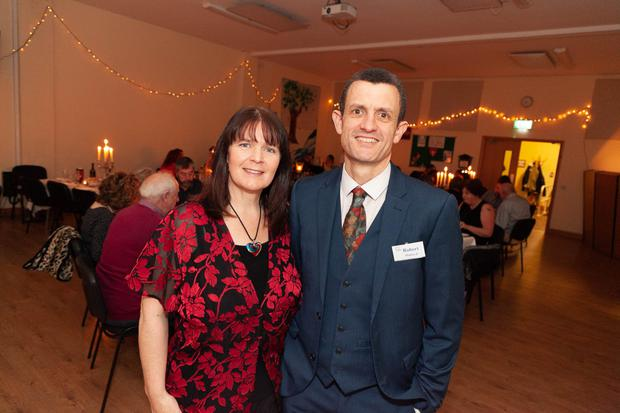 Helen and Robert Holden at the Loaves and Fishes gala dinner hosted by the Bridge Christian Community at their centre in Arklow