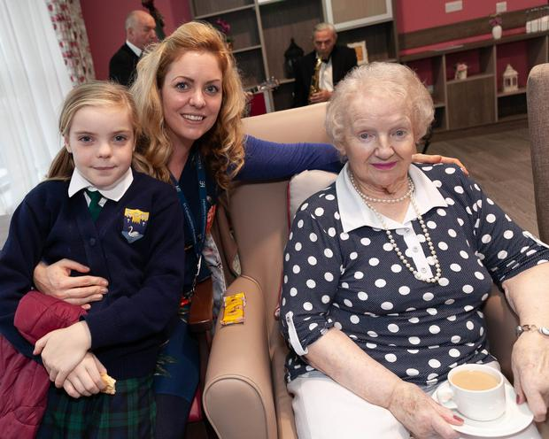 Kaila and Grainne Macklin with Theresa O'Neill at the official opening of Knockrobin Hill Care Home