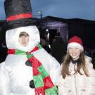 Ella Keane and Ellie O'Flanagan at the switching on of the Christmas lights in Greystones