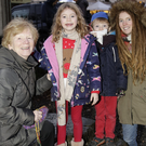 Marcella Doyle, Jade Macken, Erik Macken and Emma Macken at the turning on of the Christmas lights in Enniskerry