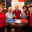 Members of the Arklow Town Twinning Association committee enjoying the association's Christmas Social in the Sailing Club: from left - Anne O'Connell, Kitty Brennan, Michael McEvoy, Christien Van Bussel and Maria Fitzmaurice
