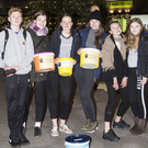 Rory Nolan, Emily Beattie, Lena Stewart, Caroline Bell, Juliet Fisher and Aisling Dillon-Roberts who were singing carols for the Mustard Seed Communities at the Ladies Night Out in Greystones