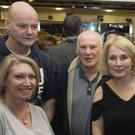 Adrienne Kitt, Richie Kitt, Paul Kavanagh, Noreen Keegan Kavanagh, Alan Siney and Jane Siney at the Blessington GAA Night at the Dogs