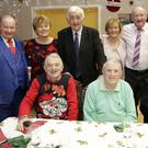 Enjoying the senior citizens party at St Bridget's Community Hall, Rathnew were: Back - Sean Ryan, Doreen McGettigan, Pat Mitchell, Eileen and Thomas Kelly, John Whelan; Front - Charlie McGettigan, Joe McGettigan, Fr Dermot Kavanagh