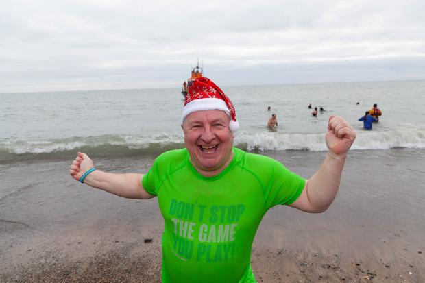 Colm Moules looking refreshed at the St Stephen's Day swim in Arklow