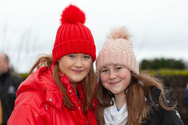 Ashling O'Connor and Aoife Kavanagh enjoying the Seamus Barnes Memorial Cup match at Arklow Rocks Parnells