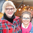 Martina Cullen and Talei Landeryou at the market that took place in the Abbey Grounds, Wicklow town, before Christmas