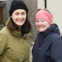 Maureen Hickey and Dianne Cullinan taking part in the annual Tinahely Goal Mile on New Year's Day