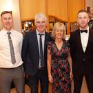 Lee, Butch, Colette and Warren Kavanagh with Katriona Rowan enjoying their night out at the Garden County GAA Sports Star awards in the Arklow Bay Hotel
