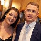 Jennifer Lyons and Dean Healy at the Garden County GAA Sports Star awards in the Arklow Bay Hotel