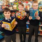 Rathdrum Boys NS pupils Tadhg Cleary, Cathal Belton, Joe Jacob and Tomas Martin get stuck into some good reads at the school's Book Fair