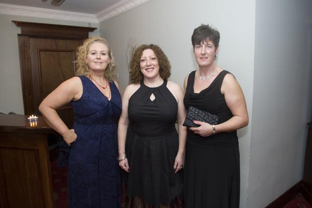 Paula Murphy, Niamh Rooney and Noni Law enjoying their night out at the Shillelagh Hunt Ball in Germaine's, Baltinglass