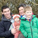 Jane Pierce with her son Tom, and grandchildren Freya and Ryan enjoying the action at the ploughing match in Roundwood