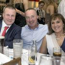 Rory Stokes with Mick and Sharon Broderick at the Tinahely GAA dinner dance in the Ashdown Park Hotel, Gorey