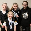Leo and Isabel Goulding, Anna White and Shauna Fitzpatrick at the Irish Open International in Citywest