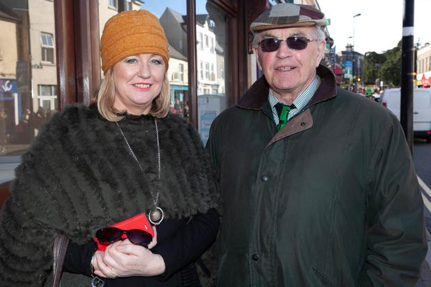 Majella Flaherty and her dad John enjoying their day out at the St Patrick's Day parade in Wicklow town