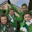 Young players from Blessington FC taking part in the St Patrick's Day parade in Blessington