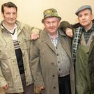 Cast members from Crois Dearg Drama Group's production of 'Widows Paradise' in Glenealy Village Hall: The Fishermen - Noel Armstrong (Alan), Gerry Delaney (Harry) and Colm Ffrench (Ernie)
