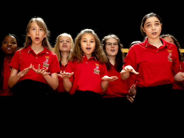 Members of the Singing Angels from Ohio, USA performing at the Brockagh Centre in Laragh recently