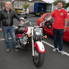 Billy Allen and Neil Burke at the East Coast Classic's Car Show in Arklow