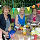 Mary Duffy, Bridie Coen, Molly Staunton and Martina Byrne enjoying the annual barbecue at Blainroe Nursing Home