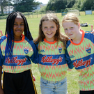 Jojo Hanrahan, Katie Ashmore and Yasmin Bishop enjoying the Kellogg's Cúl Camp at Ashford GAA grounds
