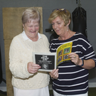 Margaret Allen and Margaret Healy at the recent exhibition at Dunlavin GAA Club