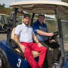 Thomas Browne and Shane Allen at the golf fundraiser for East Glendalough School