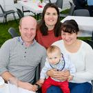 Naomi Black, Joshua and Eric Stout and Katharine Deane enjoying their day out at the Wicklow Parish barbecue in Moneystown