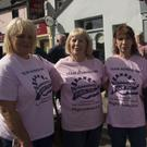 Edel Finnegan, Teresa Ronaldson, Bernadette Ellis and Catherine Behan at the Aoibheann's Pink Tie coffee morning in Hennessy's Lounge, Blessington