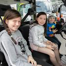 Hayley, Jenna and Mathew McConnell enjoying Save a Life Day at Sinnott Autos, Wicklow town