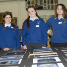 Amy Cunningham, Hazel Lawlor and Tara Dunne at the open night in St Kevin's Community College, Dunlavin