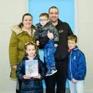 Sophia White with William, Billy, Rhys and Alannah Hunter at the Christmas fair in St Coen's National School, Rathnew
