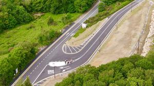 An aerial shot of the realigned junction. PHOTO BY Robert Kelly, Wicklow County Council
