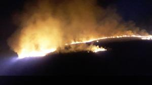 The fire on Scarr Mountain