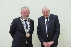 Incoming Cathaoirleach Cllr Patsy Glennon and Cllr Gerry O'Neill