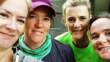 The four sisters ran 400 miles in four weeks and raised over €10,000 for Our Lady's Hospice which supported their much-loved aunt