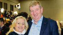 Pat Casey with his wife Sonia at the count centre on Sunday