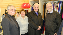 Rev Ken Rue, Lesley Rue, Archbishop Michael Jackson and Canon John Clarke at the re-opening of The Hub in Ashford