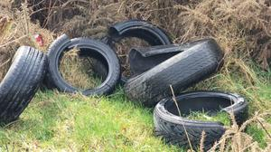 Up to 15 tyres were discarded