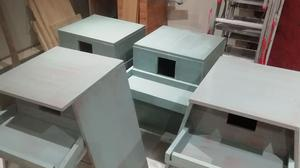 Some of the nesting boxes made by Stephen Walsh