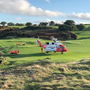Rescue 116 landing at Wicklow Golf Club. Pic courtesy of Greystones Coastguard