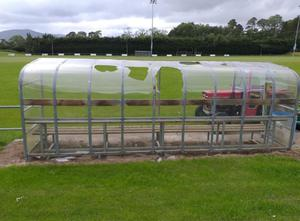 Damage was caused to two dugouts