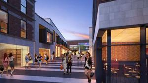 An artist's impression of the Bray Central development.