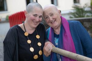 Aoife and mam Eileen Patterson after their charity head shave for Pieta House