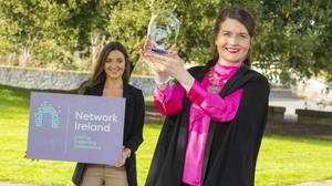 National president of Network Ireland Aisling O'Neill (right) with the organisation's social media manager Amy O'Sullivan
