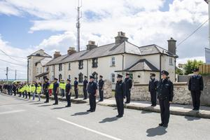 Greystones Gardaí take a moment to pay tribute to Garda Colm Horkan