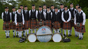 Current members of the Arklow pipe band, pictured in 2019