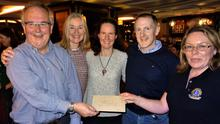 Dave Shannon, Nora Dunne, Claire Higgins and Mark Higgins with Ann Chambers of the Wicklow and District Lions Club