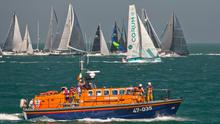 The boats heading off at the start of the 2018 Round Ireland race